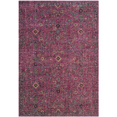 Manya Pink Area Rug Rug Size: Rectangle 9 x 12
