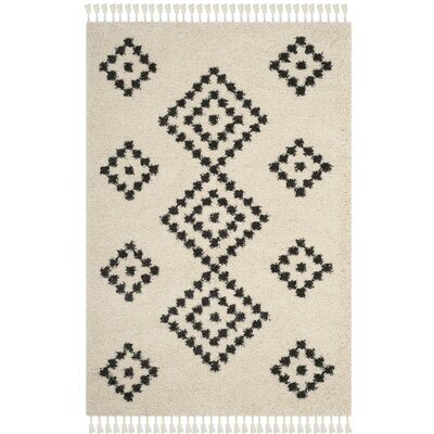 Morgan Black/Beige Area Rug Rug Size: Rectangle 51 x 76