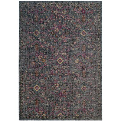Manya Blue/Gray Area Rug Rug Size: Rectangle 67 x 9