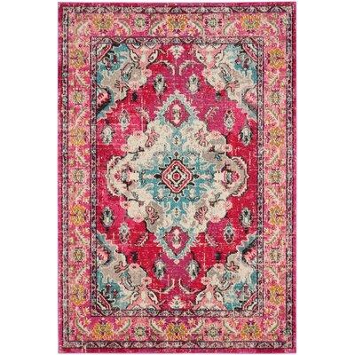 Elston Pink Area Rug Rug Size: 3 x 5