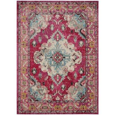 Elston Pink Area Rug Rug Size: 9 x 12