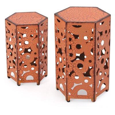 Caroline 2 Piece Nesting Tables Finish: Antique Orange
