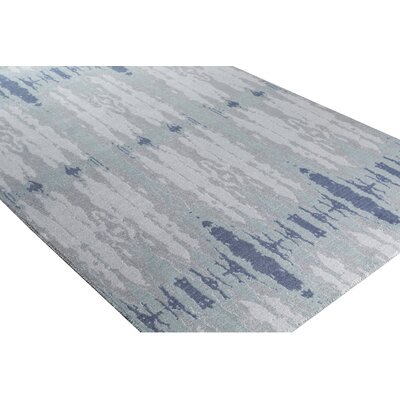 Pote Blue Area Rug Rug Size: Rectangle 53 x 76
