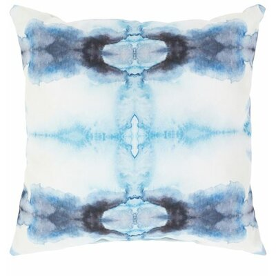 Ziggy Outdoor Throw Pillow Color: Blue