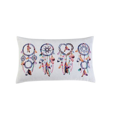 Alda Printed Dreamcatcher Decorative Lumbar Pillow