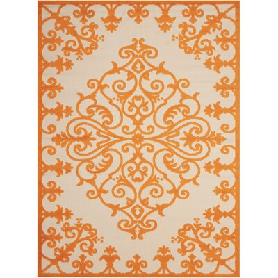 Charlayne Orange Indoor/Outdoor Area Rug Rug Size: Rectangle 53 x 75