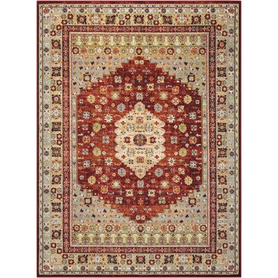 Star Red/Beige Area Rug