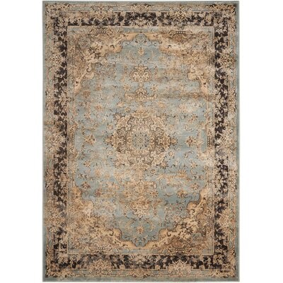 Saavedra Light Blue/Beige Area Rug Rug Size: Rectangle 53 x 74