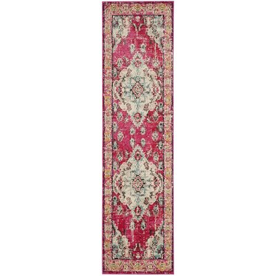 Elston Pink Area Rug Rug Size: Runner 22 x 12