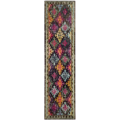 Crosier Green/Pink Area Rug Rug Size: Runner 22 x 12