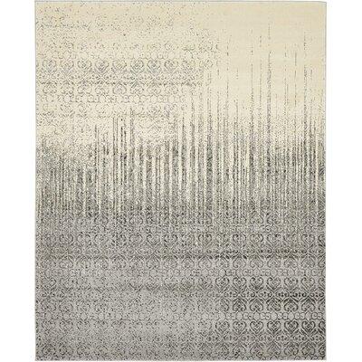 Deniece Gray Area Rug Rug Size: 8 x 10