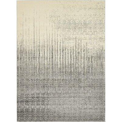 Deniece Gray Area Rug Rug Size: 8 x 11