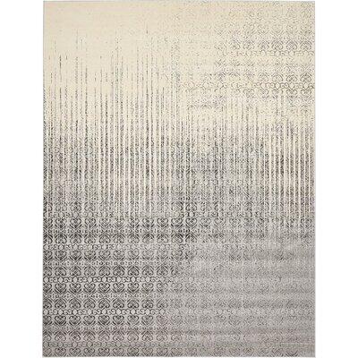 Deniece Gray Area Rug Rug Size: 10 x 13