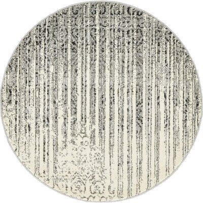 Ennassim Gray Area Rug Rug Size: Round 3