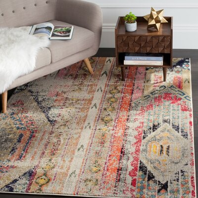 Crosier Red/Brown Area Rug Rug Size: Square 5