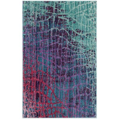 Tilburg Blue/Fuchsia Area Rug Rug Size: Rectangle 8' x 10'