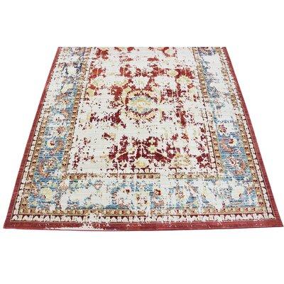 Danbury Red Area Rug Rug Size: 6 x 9
