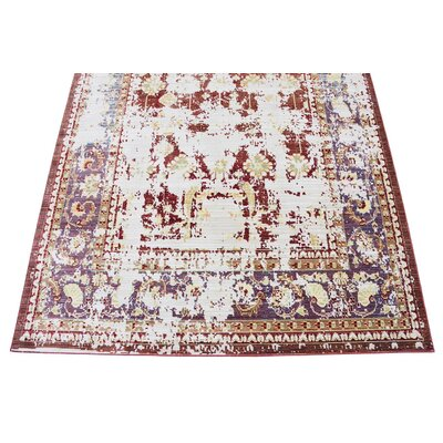 Danbury Red Area Rug Rug Size: 5 x 8