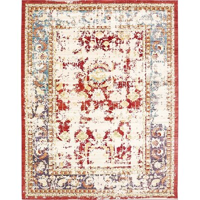 Danbury Red Area Rug Rug Size: Rectangle 7 x 910