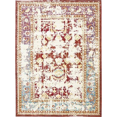 Rune Red Area Rug Rug Size: 7' x 9'10