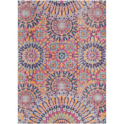 Fredonia Pink/Blue Area Rug Rug Size: Rectangle 53 x 73