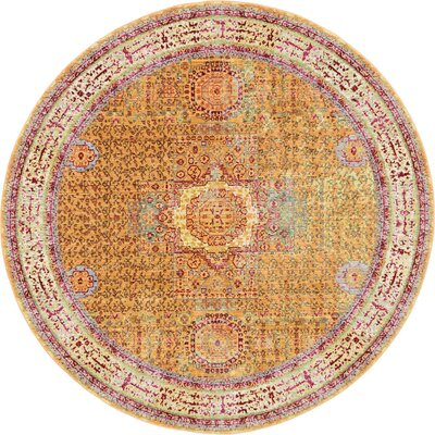 Danbury Traditional Area Rug Rug Size: Round 6