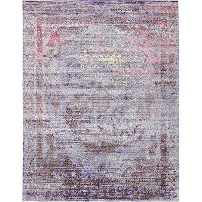Rune Violet Area Rug Rug Size: 9' x 12'