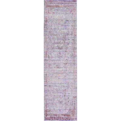 Rune Violet Area Rug Rug Size: Runner 27 x 910