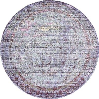 Rune Violet Area Rug Rug Size: Round 6'