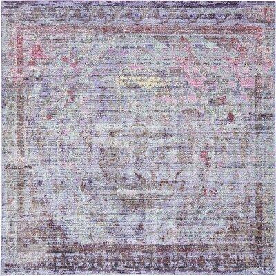 Rune Violet Area Rug Rug Size: Square 8'