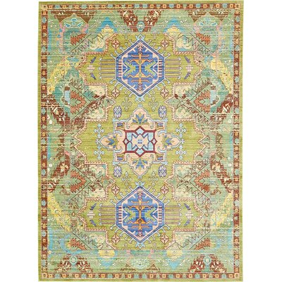 Rune Multi-Colored Area Rug Rug Size: 7' x 9'10