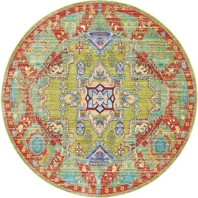 Rune Multi-Colored Area Rug Rug Size: Round 6'