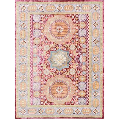 Rune Red Area Rug Rug Size: 7 x 10