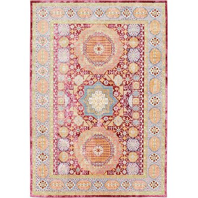 Bradford Red Area Rug Rug Size: 6 x 9