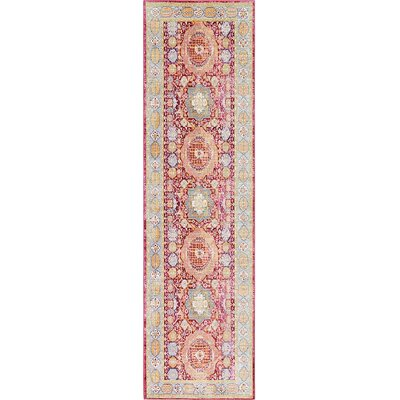 Bradford Red Area Rug Rug Size: Runner 27 x 91