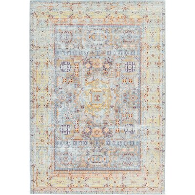 Bradford Aqua Area Rug Rug Size: Rectangle 7 x 10