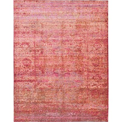 Rune Red Area Rug Rug Size: 9 x 12