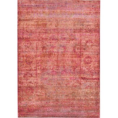 Rune Red Area Rug Rug Size: 6 x 9