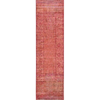 Rune Red Area Rug Rug Size: Runner 27 x 910