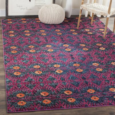 Lafayette Pink Area Rug Rug Size: Rectangle 8 x 11