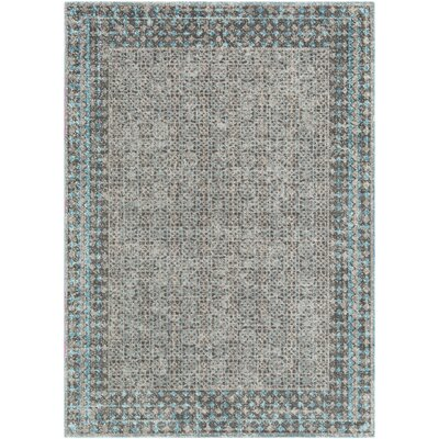 Fredonia Blue/Gray Area Rug Rug Size: Rectangle 53 x 73
