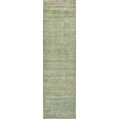 Rune Green Area Rug Rug Size: Runner 2'7