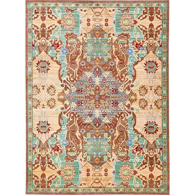 Rune Peach Area Rug Rug Size: Rectangle 7 x 910