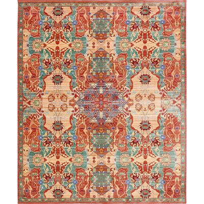 Rune Peach Area Rug Rug Size: Rectangle 9 x 12