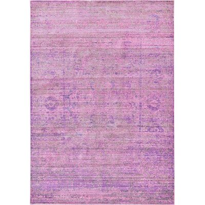 Rune Purple Area Rug Rug Size: 6' x 9'