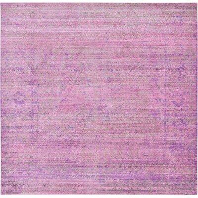 Rune Purple Area Rug Rug Size: Square 8'