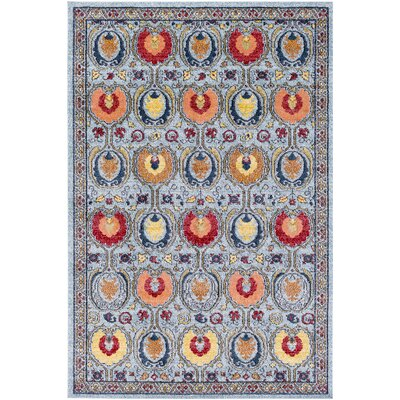 Nichole Ikat Blue Area Rug Rug Size: Rectangle 53 x 73