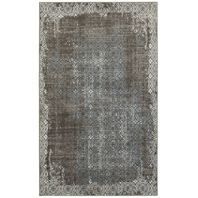 Willow City Brown/Cream Area Rug Size: 51 x 75