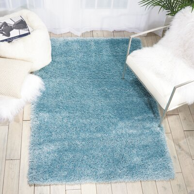 Alto Aqua Area Rug Rug Size: Rectangle 53 x 73