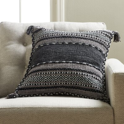 Fogarty Pillow Cover Color: Black, Size: 18